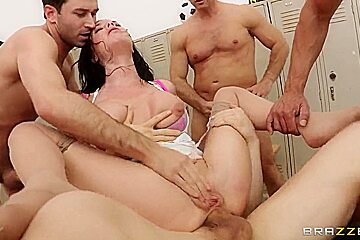 John Strong, Jordan Ash, Marco Banderas and Veronica Avluv