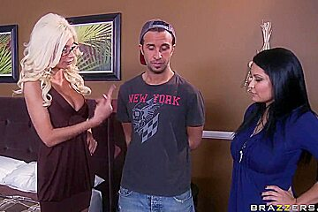 Blonde milf Puma Swede works up Keiran Lee's cock