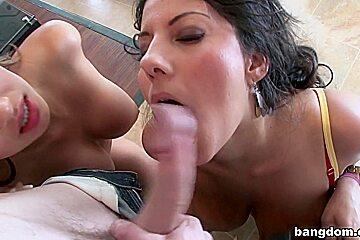 Two pretty Latinas with big natural tits...