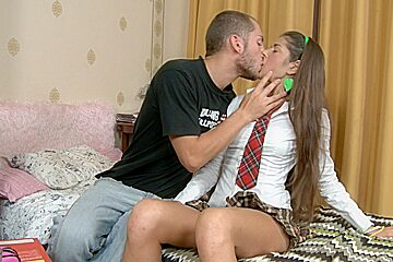 Agnessa in a hot chick making love to her horny lover