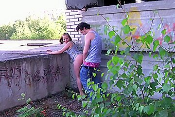 Venday in pickup porn scene showing a couple having sex