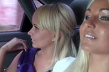 Amelie Pure & Jocelyn in two hot pick up girls get fucked by a horny guy