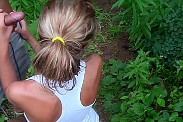 Vicktoria Tiffany in blowjob and hardcore sex in an outdoor sex video