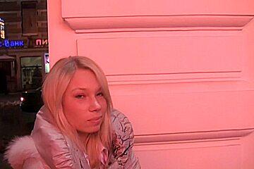 Lorena in hot blonde enjoys hard public toilet fuck