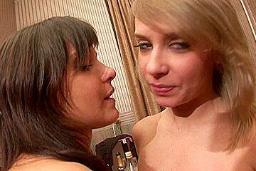 Layla & Lola & Ruby & Sunny in nude students enjoying hardcore group sex