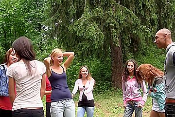 Albina & Hailey Ariana & Felony & Lindsey & Francheska & Angela in orgy movie showing lusty chicks shagging in nature
