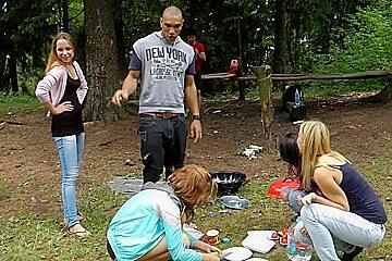 Albina & Hailey Ariana & Felony & Lindsey & Francheska & Angela in black guy fucking cute college girls in nature