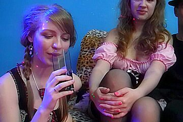 Gillian & Marry Dream & Tonya & Yiki in two slutty college chicks get fucked by one guy