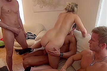 Charlotte Reed & Angel Piaff & Corrine & Eveline & Ilsa in college orgy with handsome bitches and horny guys