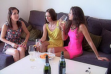 Agnessa & Carol Vega & Leila in group sex video featuring hot student girls