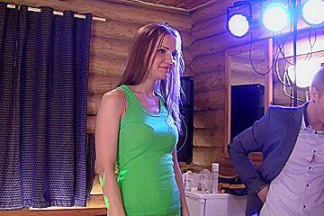 Ruth Folwer & Izi Ashley & Sabrina M & Eva Shanti in orgy movie with plenty of slutty college lassies
