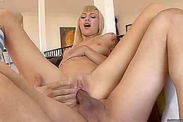Sexy Emma Mae loves getting her moist pussy pummelled