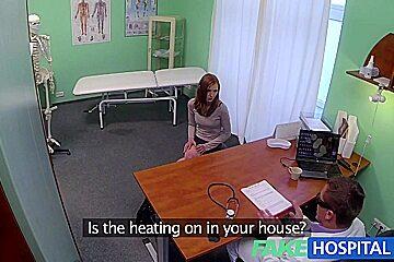Fake Hospital Innocent redhead gets a creampie