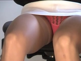 Office hidden camera upskirt
