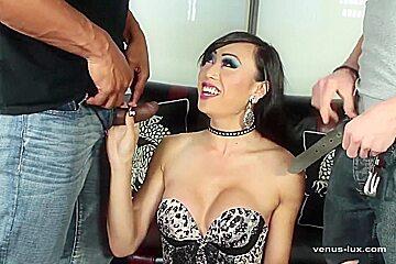 Venus Lux Sucks And Fucks 2 Cocks