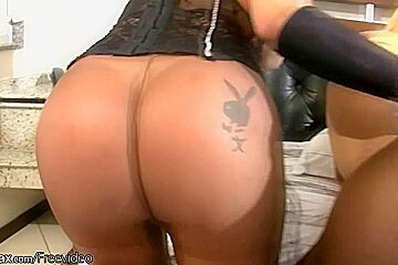 FULL video of four shemales in pantyhose fucking asses