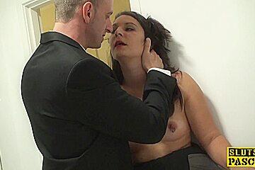 Brit sub slut Sophie Garcia riding maledom