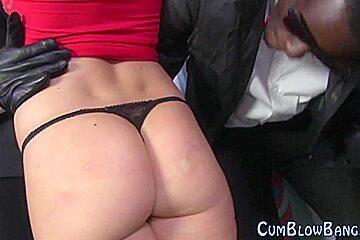 Blowbang slut bukkake