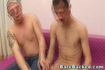 College Horny Gay Roommate Loves Bareback Sex