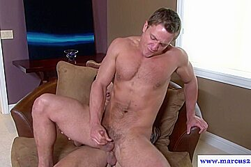 Marcus mojo rams ass and tugs cock