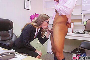 Tali Dova likes black cocks at work