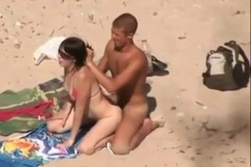 Beach public fuck