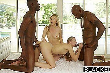 BLACKED First Interracial Foursome for Karla & Jillian