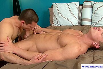 Muscular straight hunk pounds tight asshole