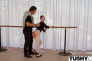 TUSHY Young Ballerina Explores Anal Sex with her Teache