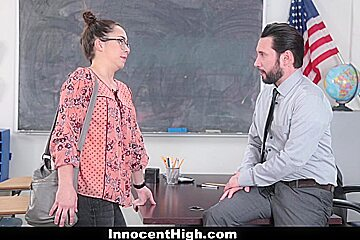 SchoolGirl Pretends Fucks Her Way Out Of Trouble