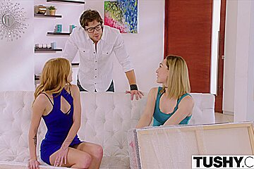 TUSHY Art Students Have Anal Threesome With Teacher