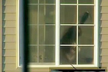 Window spy milf
