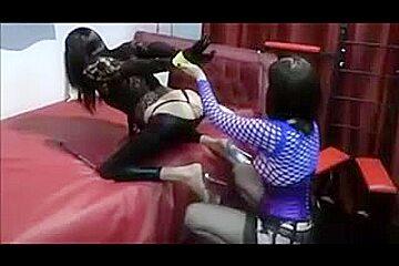 british mastix uses her sissy slave