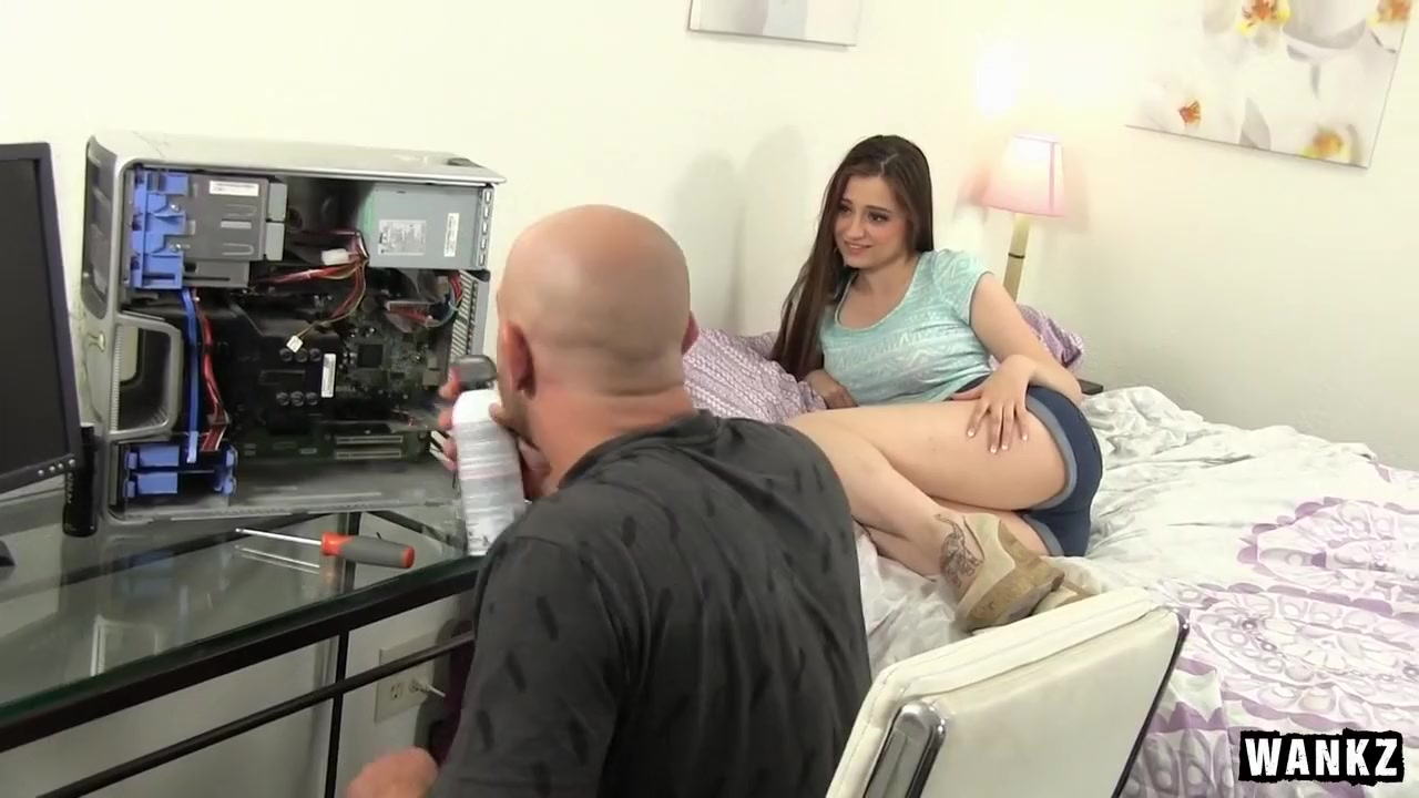 Adorable Teen Elektra Gets Her Pussy Smashed Open