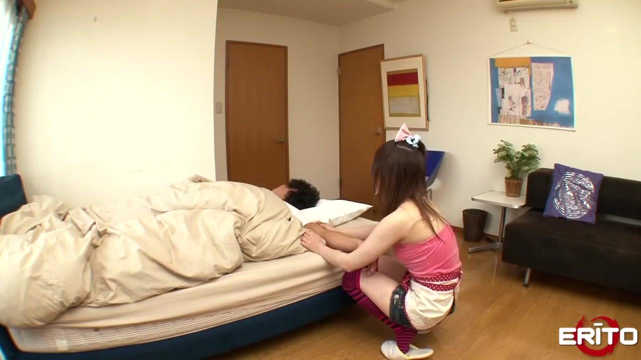 Japanese teen having fun